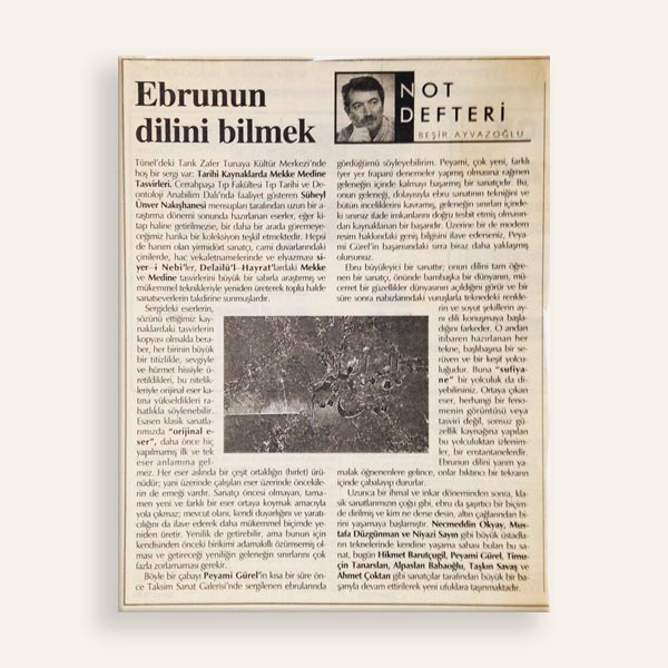 Ebrunun Dilini Bilmek Zaman Gazetesi
