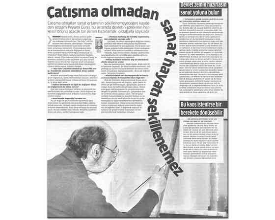Çatışma ve Sanat Star Gazetesi