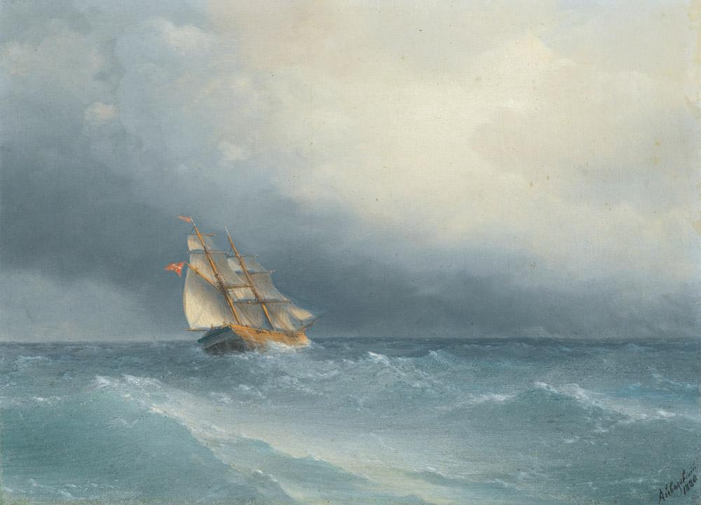 Aivazovsky Fırtınada Şişen Yelkenler, Tarih: 1880