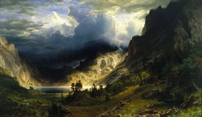 Rocky Dağlarında Fırtına, 1866, 210 x 360 cm, Tuval Üzeri Yağlıboya