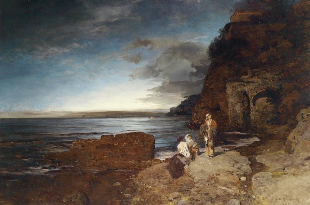 Sahilde Akşam, Tarih: 1880, Teknik: Tuval üzeri yağlıboya, Orijinal Boyut: 100 × 150 cm