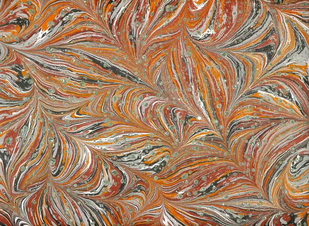 peyami gürel şal desen ebru kompozisyon No 02